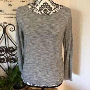 Madewell black and white striped long sleeve tee